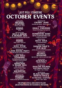 October Events @ Last Pub Standing
